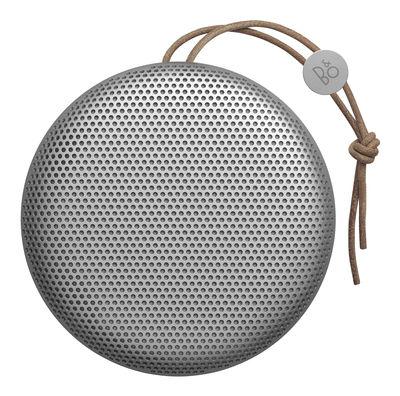 Enceinte Bluetooth Beoplay A1 Sans fil Poignée cuir B O PLAY by Bang Olufsen gris en métal
