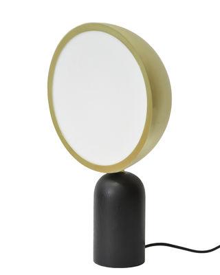 Luminaire - Lampes de table - Lampe de table Atlas / Bois & métal - ENOstudio - Laiton & noir - Acier, Bois massif teinté, PMMA