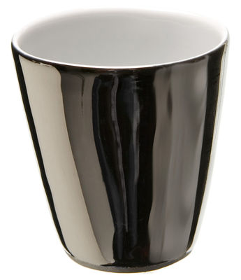 Tableware - Coffee Mugs & Tea Cups - Assoiffés Cup - / Set of 2 by Tsé-Tsé - Platinium, glazed outside - China