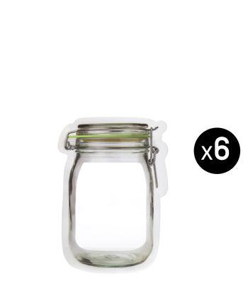 Cuisine - Boîtes, pots et bocaux - Sachet de conservation Zipper XS - 90 ml / Set de 6 - KIKKERLAND - 90 ml / Turquoise - Polyéthylène