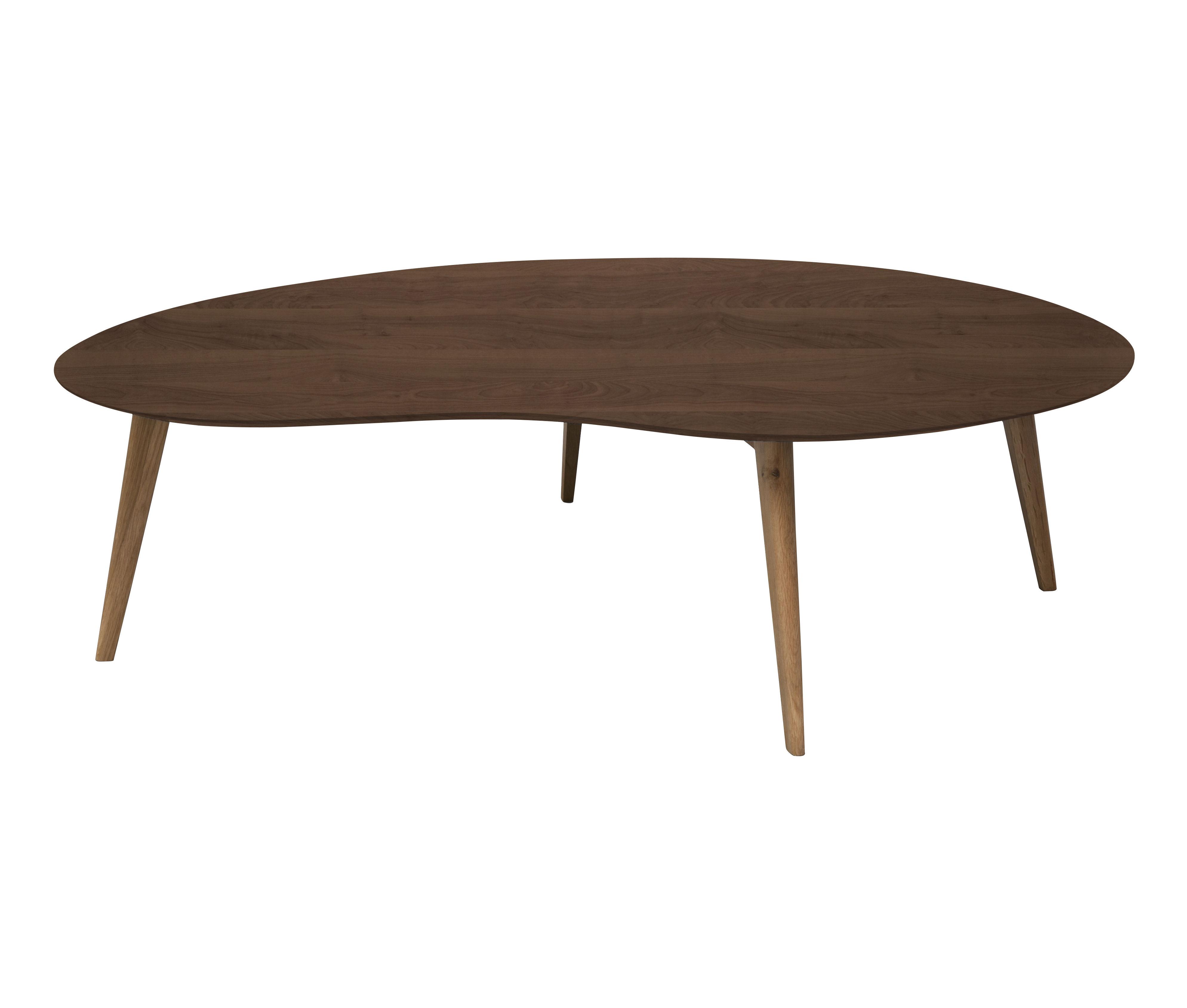 table basse lalinde haricot xxl l 130 cm noyer pieds noyer sentou edition. Black Bedroom Furniture Sets. Home Design Ideas