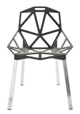 Foto Sedia impilabile Chair one di Magis - Alluminio,Antracite metallizzato - Metallo