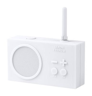 Radio sans fil Tykho 2 Rechargeable USB Lexon blanc en matière plastique