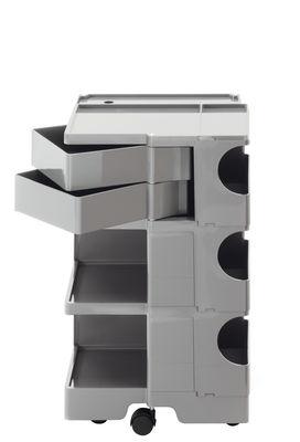 Desserte Boby / H 73 cm - 2 tiroirs - B-LINE aluminium en matière plastique