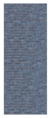 Déco - Tapis - Tapis Linieret / 204 x 80 cm - Chevalier édition - Bleu prune - Laine