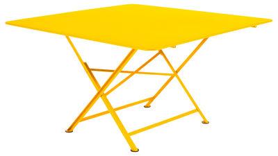 Table pliante Cargo 128 x 128 cm Fermob miel en métal