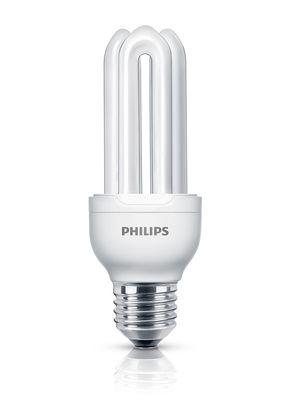 Luminaire - Ampoules et accessoires - Ampoule fluocompacte E27 Genie / 18W (83W) - 1100 lumen - Philips - 18W (83W) - Métal, Verre