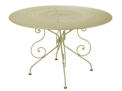 tavolo da giardino 1900 - Ø 117 cm di Fermob - Tiglio - Metallo