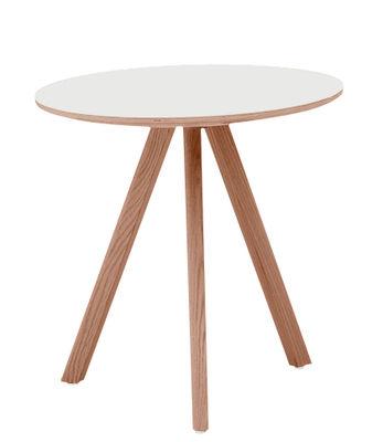 Tavolino Copenhague n°20 - / Ø 50 x H 49 cm di Hay - Bianco sporco,Rovere - Materiale plastico