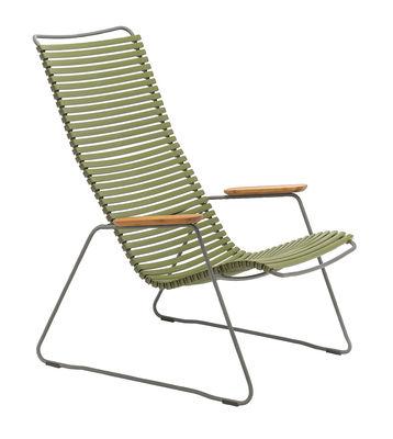 Click Lounge Lounge Sessel / hohe Rückenlehne - Houe - Bambus,Olivgrün