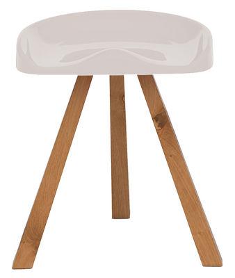 Furniture - Teen furniture - Heidi Stool by Established & Sons - Ivory - Oiled oak, Polyurethane