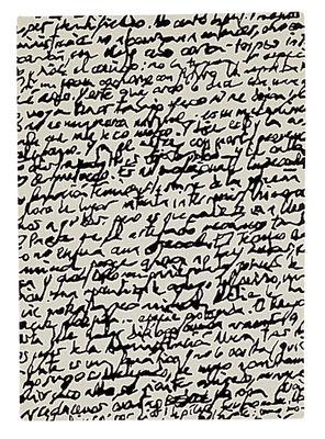 Tapis Black on white - Manuscrit - Nanimarquina blanc,noir en tissu