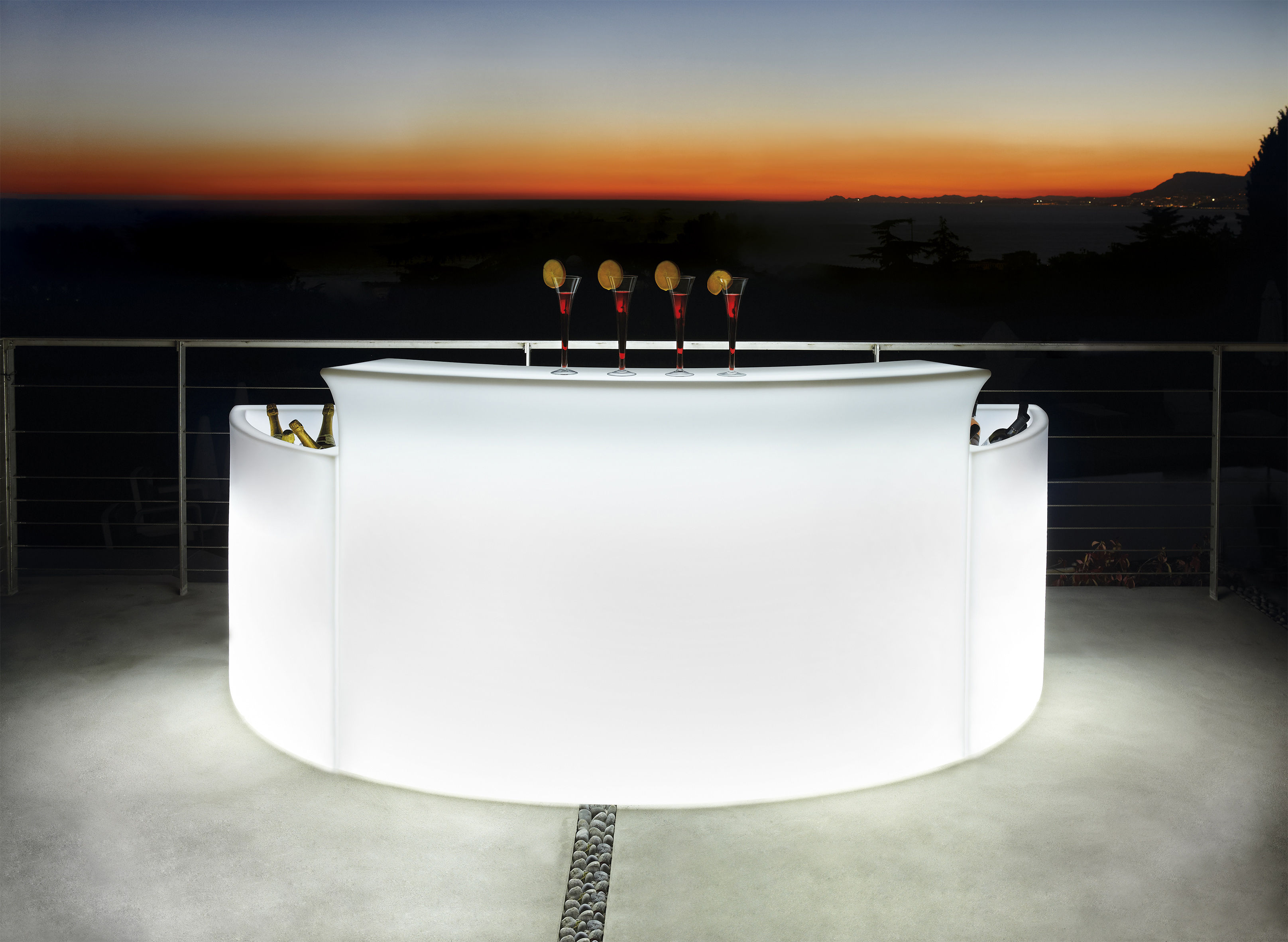 Break Bar Luminous Bar White By Slide Made In Design Uk