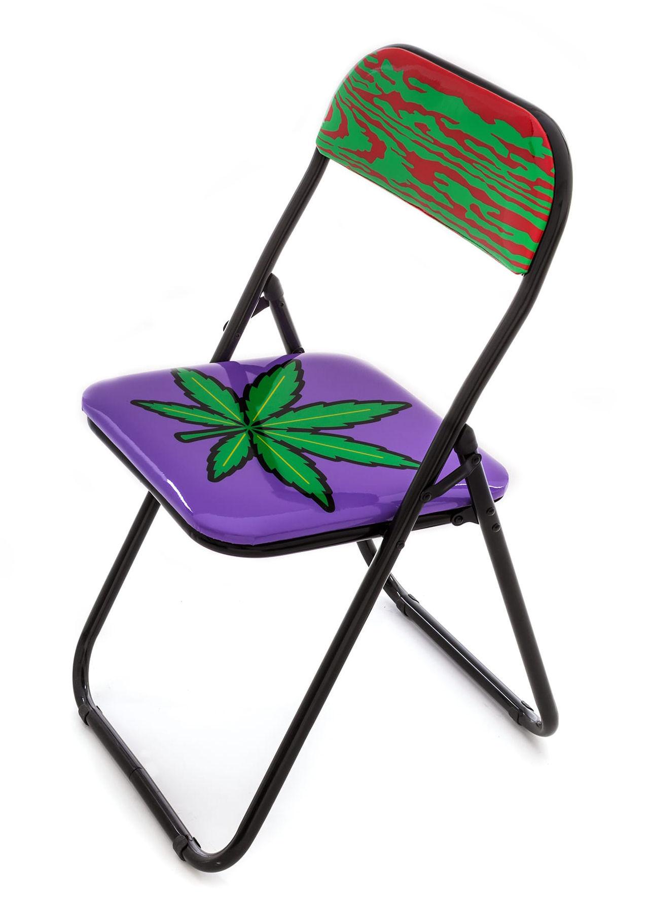 weed gepolstert seletti klappstuhl. Black Bedroom Furniture Sets. Home Design Ideas