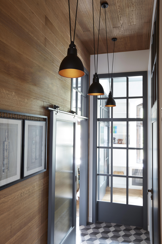 suspension acrobate n 324 lampe gras 2 abat jours ronds m tal noir rond dcw ditions. Black Bedroom Furniture Sets. Home Design Ideas