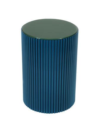 Table d'appoint Riviera Rotin L 35 x H 52 cm Maison Sarah Lavoine vert,bleu sarah en bois
