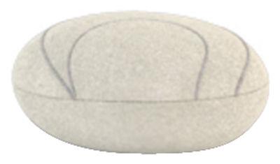 Foto Cuscino Yann Livingstones - Versione in lana da interno di Smarin - Bianco - Tessuto