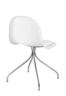 Chaise pivotante gubi 9 4 pieds coque hirek coque - Chaise coque blanche ...