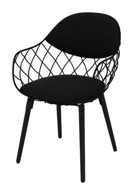 Pina Gepolsterter Sessel mit Stoffbezug - Magis - Schwarz