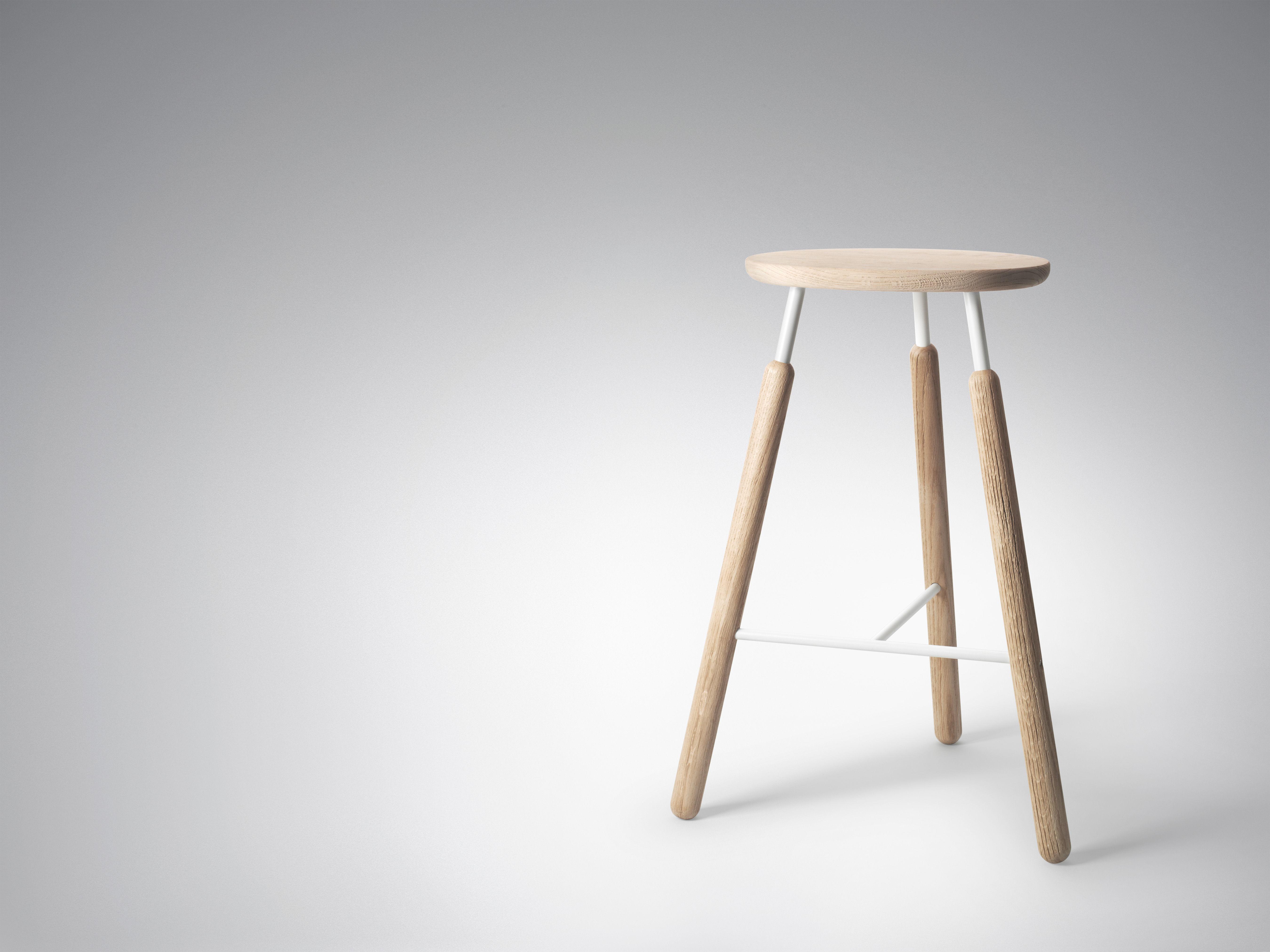 tabouret de bar raft bois m tal h 70 cm bois naturel blanc tradition. Black Bedroom Furniture Sets. Home Design Ideas