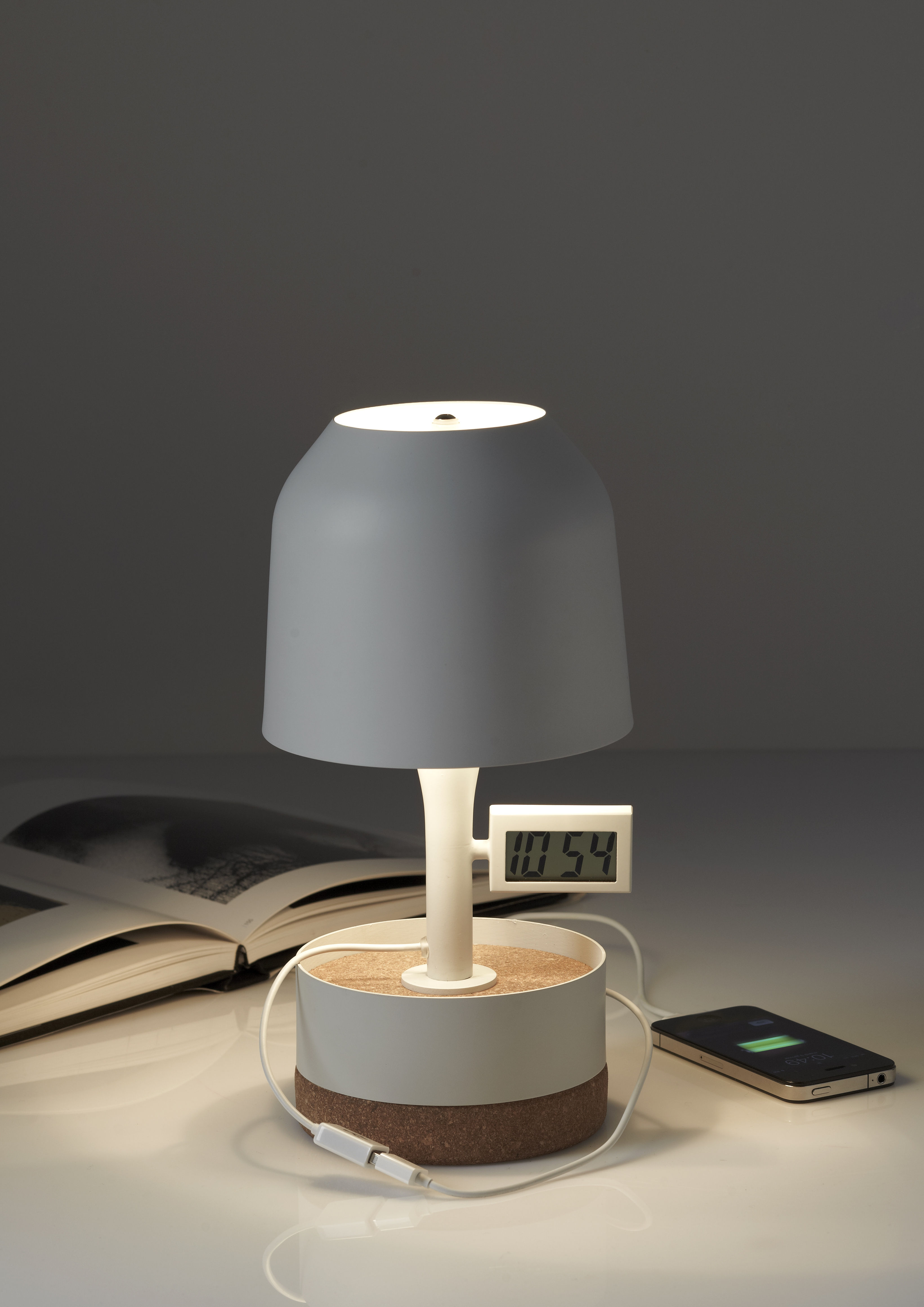 Hodge Podge Table Lamp With Alarm And Usb Port H 30 Cm