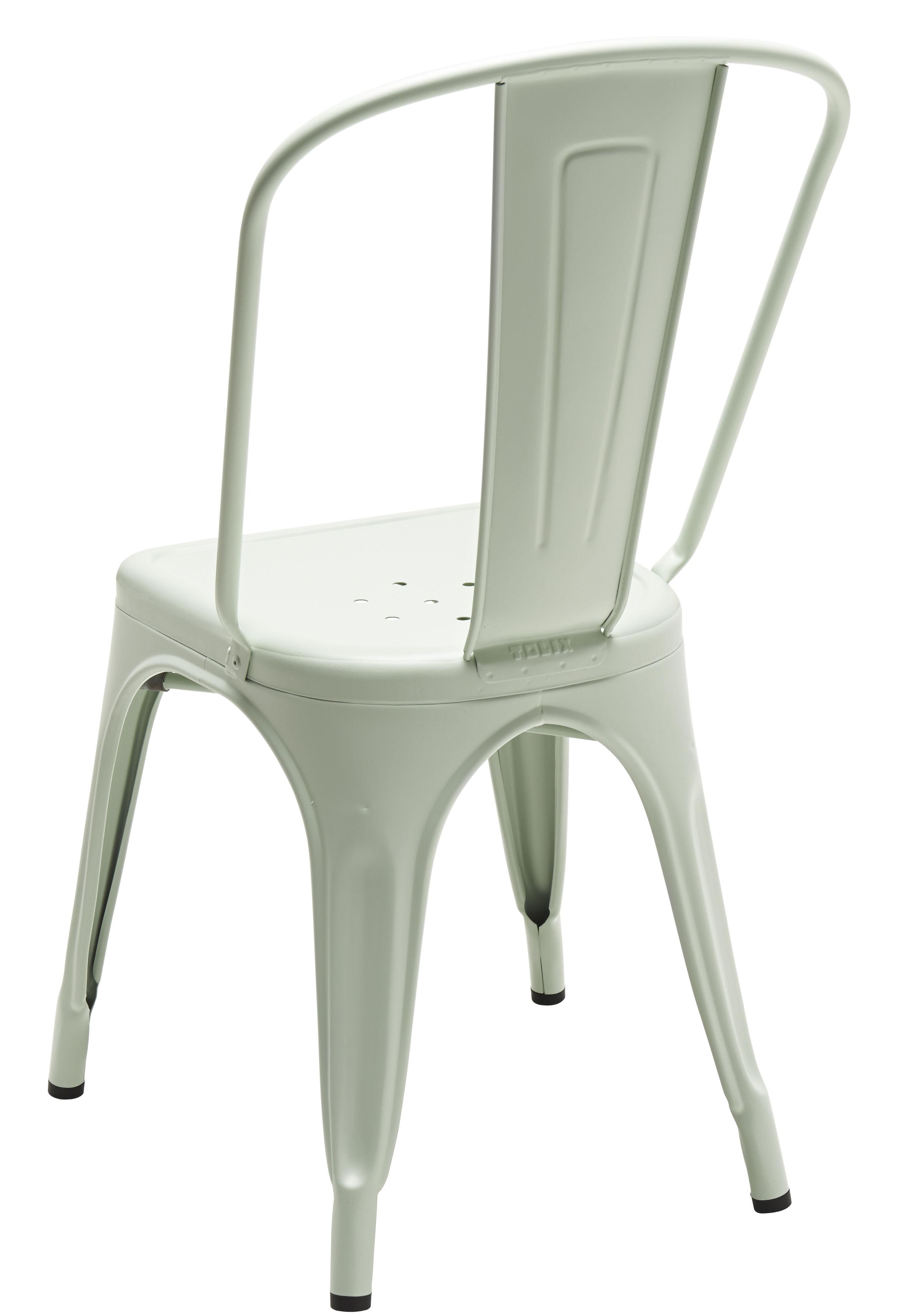 Scopri sedia a colore opaco les couleurs le corbusier verde inglese pallido di tolix - Sedia le corbusier ...
