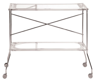 Furniture - Miscellaneous furniture - Flip Trolley by Kartell - Cristal - Anodized aluminium, PMMA