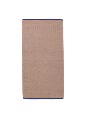 Serviette de toilette Sento / Organic - 100 x 50 cm - Ferm Living rose,bleu foncé en tissu