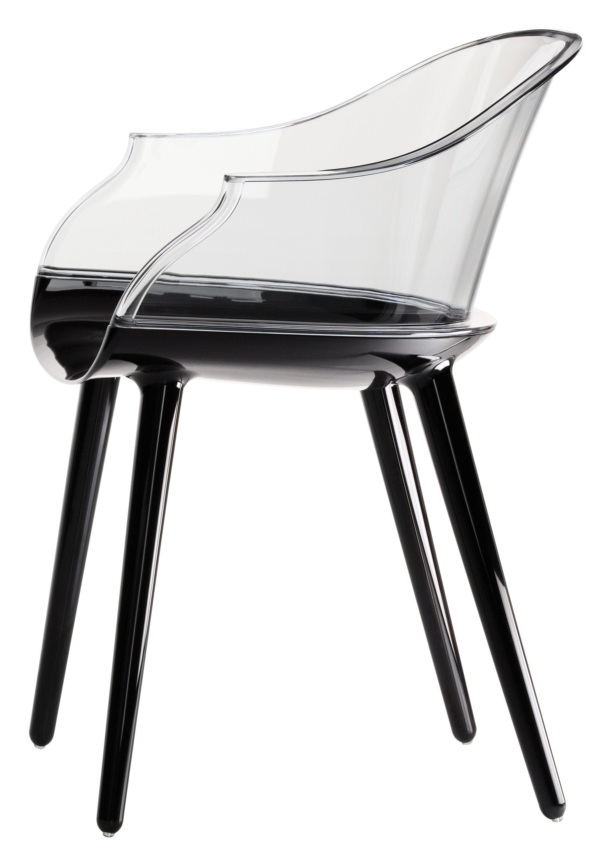 fauteuil cyborg polycarbonate dossier transparent dossier cristal transparent pieds. Black Bedroom Furniture Sets. Home Design Ideas