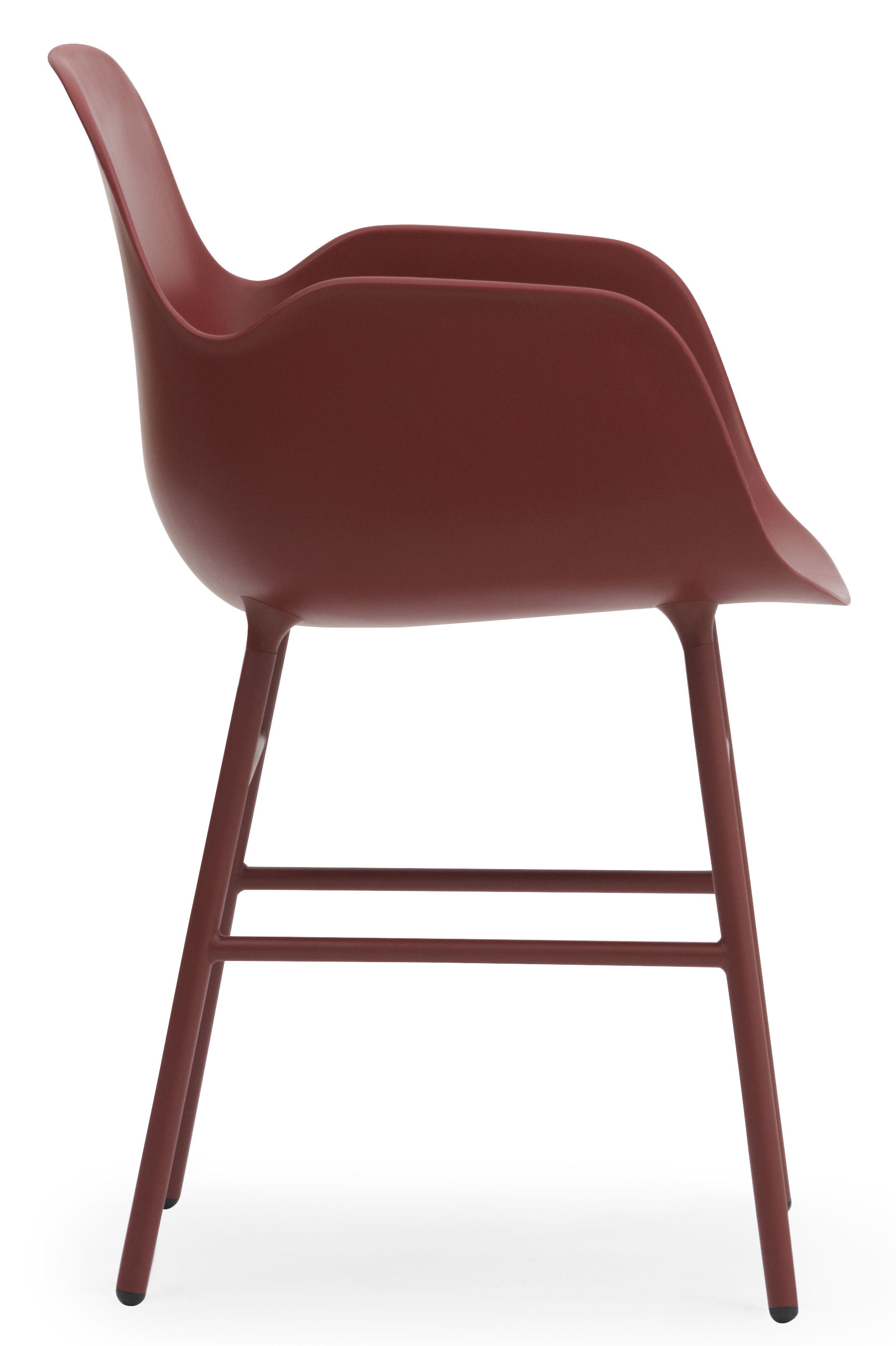 fauteuil form pied m tal rouge normann copenhagen. Black Bedroom Furniture Sets. Home Design Ideas
