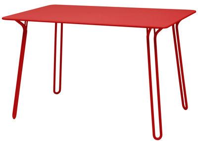 Table Surprising / 120 x 78 cm - Fermob coquelicot en métal