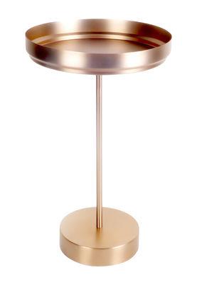 Mobilier - Tables basses - Guéridon Rondo Tray / Ø 34 cm x H 56 cm - Métal - XL Boom - Cuivre - Acier inoxydable plaqué