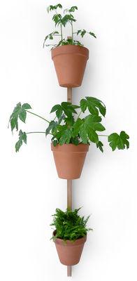 Support mural XPOT / Pour 3 pots de fleurs ou étagères - H 150 cm - Compagnie bois clair en bois