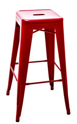 tabouret de bar h h 75 cm couleur mate le corbusier rouge vermillon 59 tolix. Black Bedroom Furniture Sets. Home Design Ideas