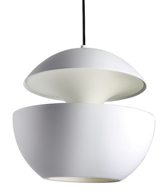 Luminaire - Suspensions - Suspension Here Comes The Sun / Ø 55 cm - Réédition 1970 - DCW éditions - Blanc / intérieur blanc - Aluminium, Textile