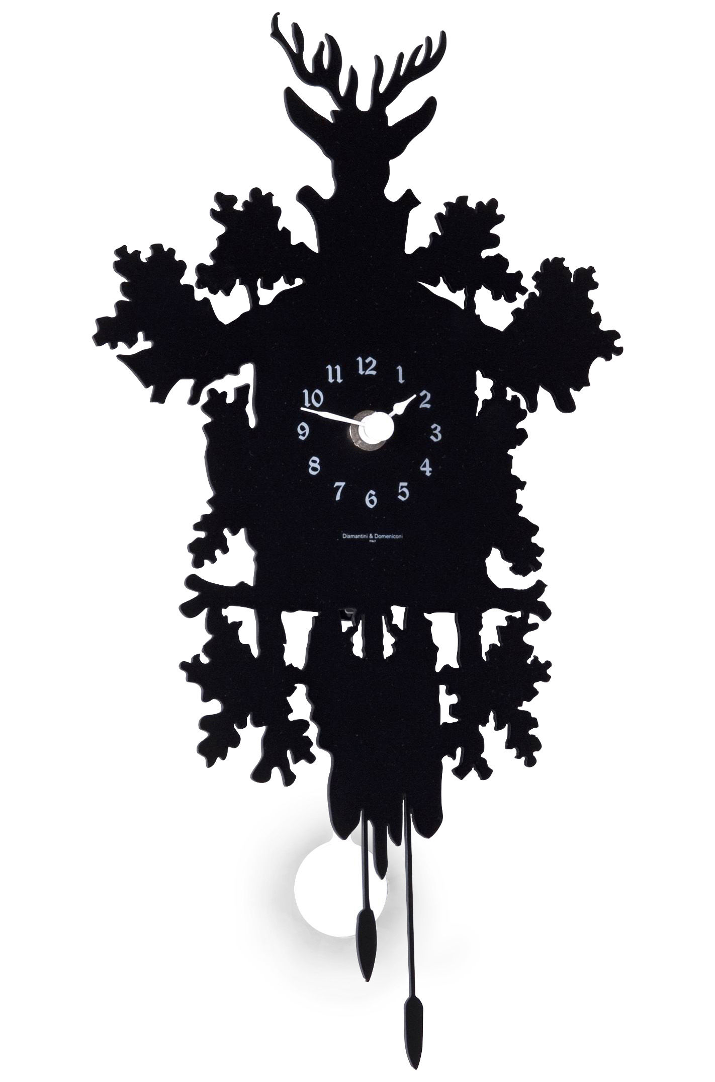 Cucù Mignon Wall clock - with pendulum - H 34 cm Black by ...
