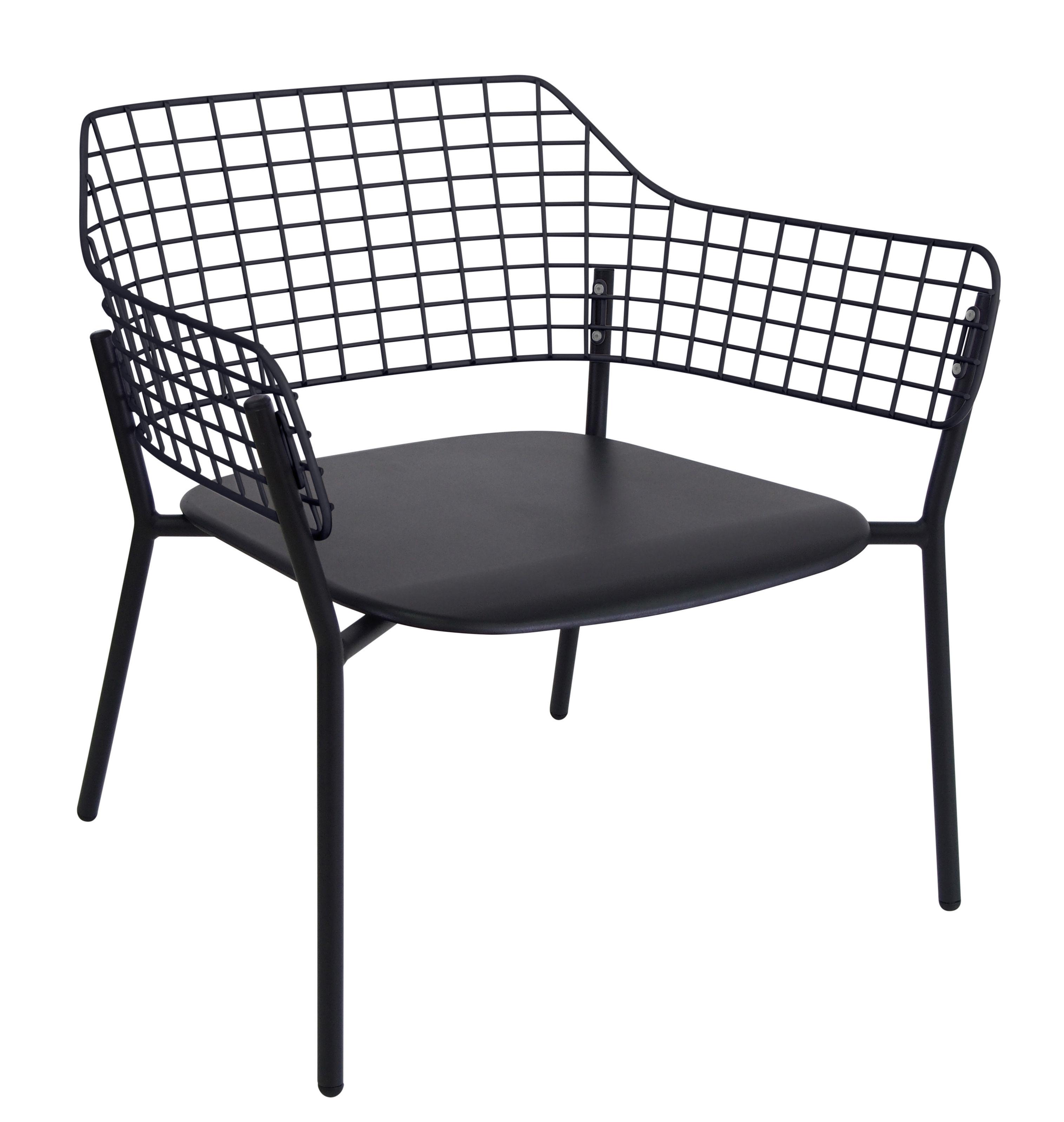 chauffeuse empilable lyze m tal noir emu. Black Bedroom Furniture Sets. Home Design Ideas