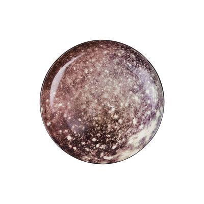 Assiette à dessert Cosmic Diner Callisto / Ø 16,5 cm - Diesel living with Seletti blanc,marron,noir en céramique