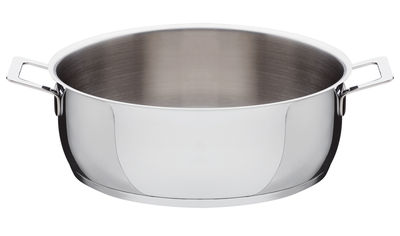 Kitchenware - Pots & Pans - Pots and Pans Low casserole - 2 handles by A di Alessi - Ø 28 cm - Stainless steel