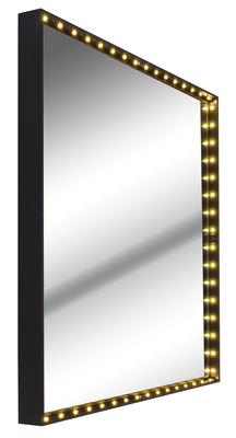 Luminaire - Suspensions - Applique Vanity square Small / Miroir - LED - 41 x 41 cm - Le Deun - Small - Noir - Acier, Miroir