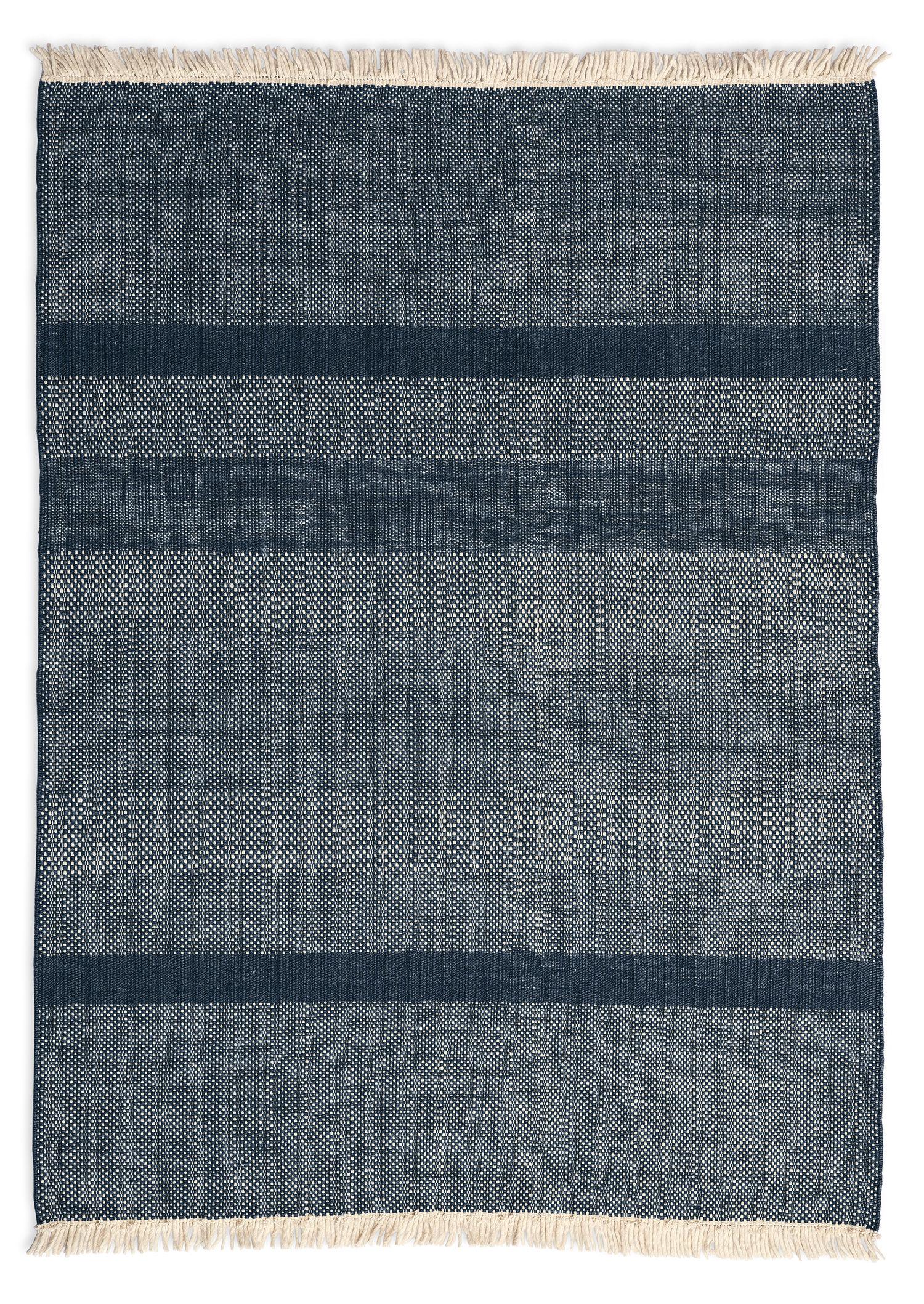 Tapis tres texture 170 x 240 cm bleu nanimarquina for Alessi porte listino prezzi