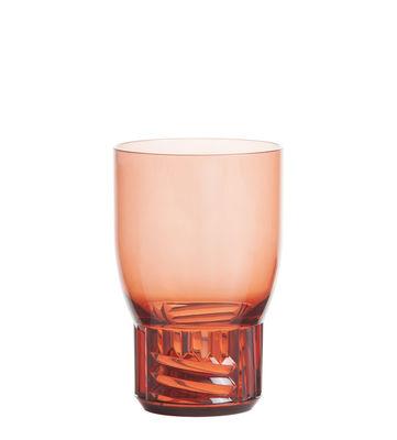 Verre Trama Medium / H 13 cm - Kartell rose en matière plastique