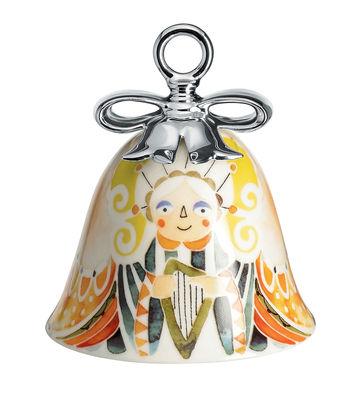 Arts de la table - Corbeilles, centres de table - Boule de Noël Holy Family / Cloche L'Ange - Porcelaine peinte main - Alessi - L'Ange / Multicolore - Porcelaine peinte