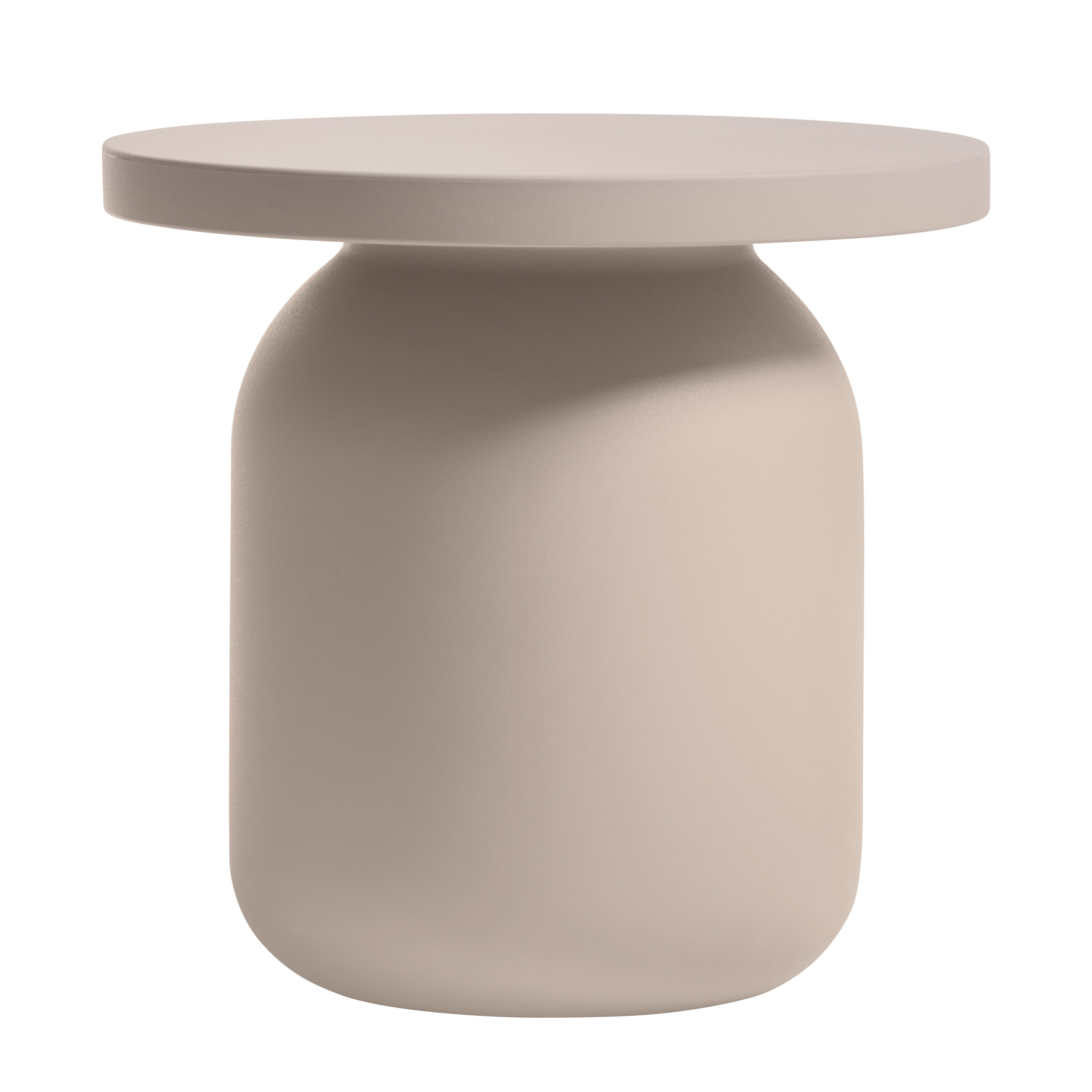 Juju End table Stool Taupe by Serralunga