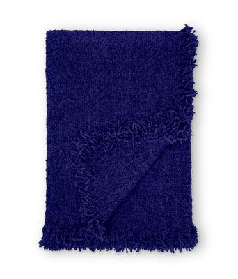 Plaid Boucle / Laine bouclée - 200 × 140 cm - Tom Dixon bleu électrique en tissu