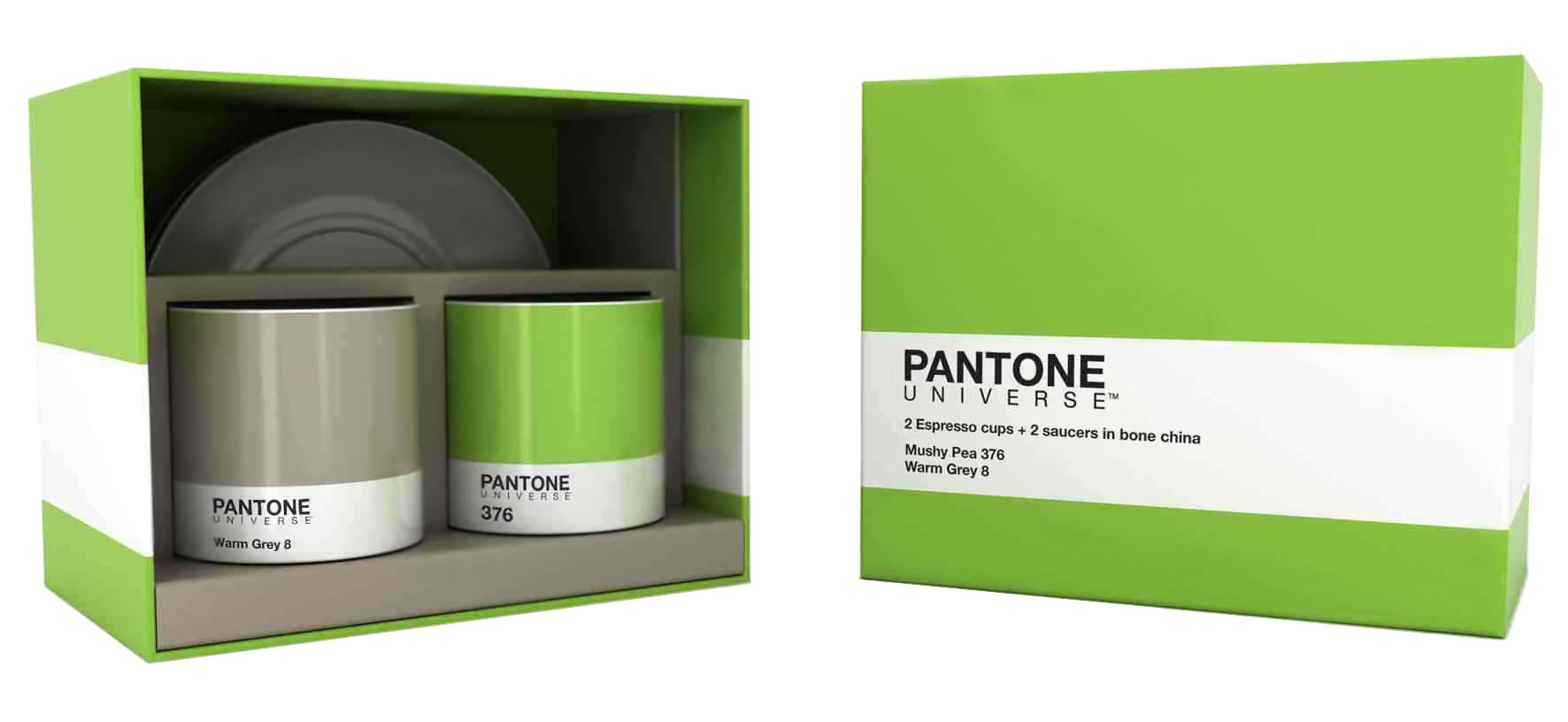 Scopri Tazzina da caffè Pantone -/ Cofanetto 2 tazze + 2 ...