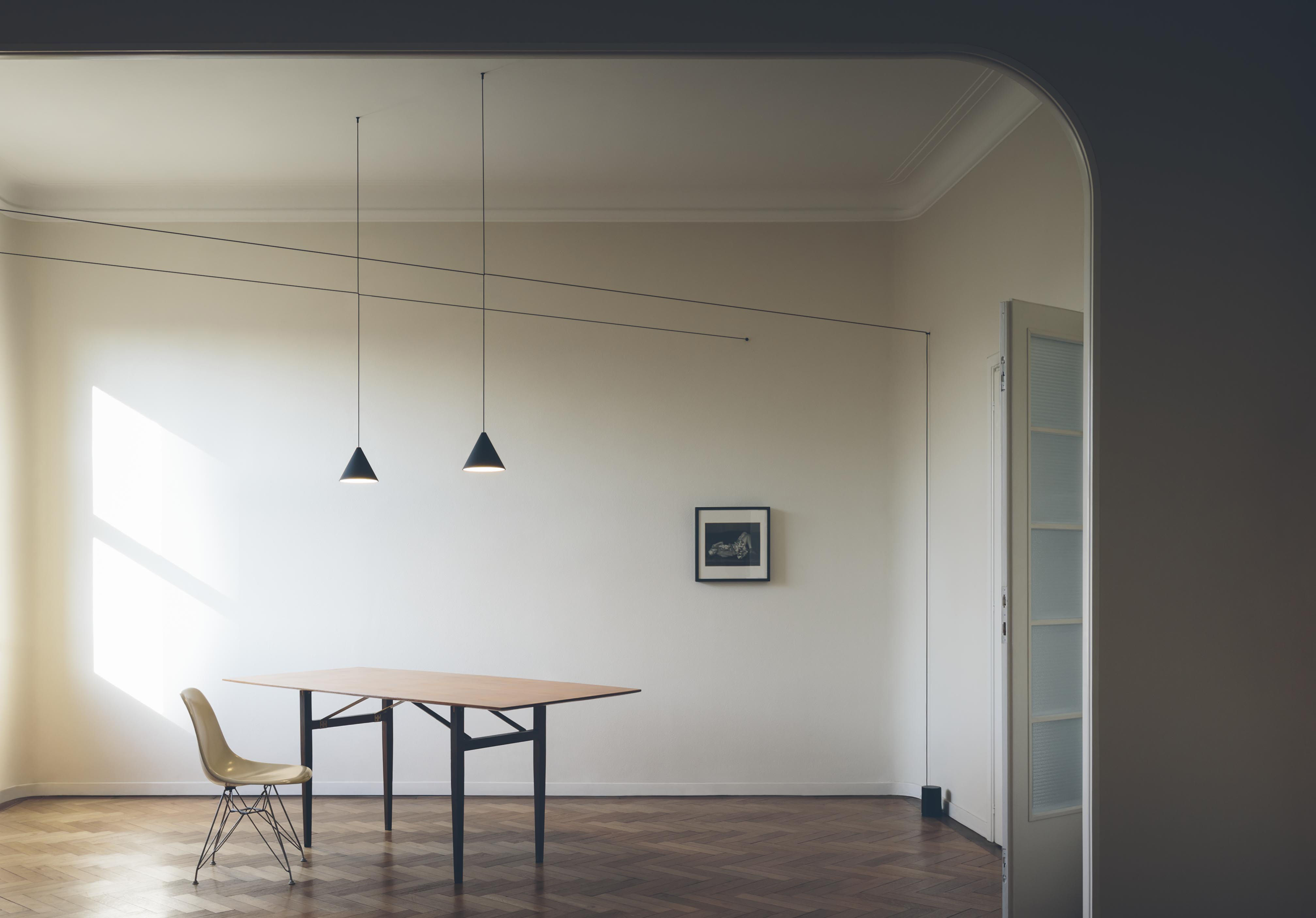String Light Cone Pendant Cone Black By Flos