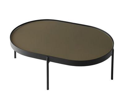 Tavolino No-No Large - / 96 x 59 x H 35 cm di Menu - Marrone,Nero - Metallo
