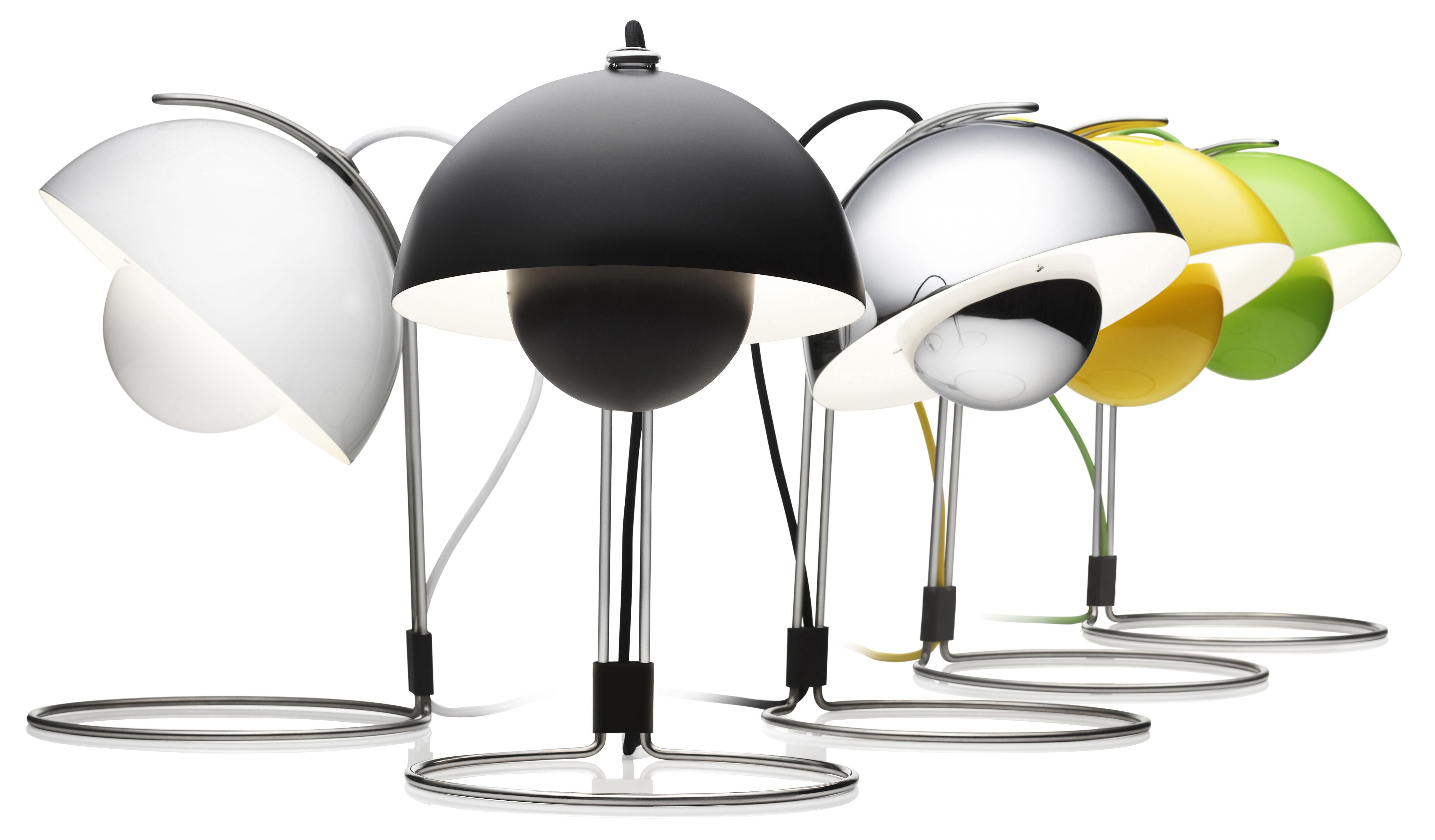 lampe de table flowerpot vp4 h 36 cm by verner panton. Black Bedroom Furniture Sets. Home Design Ideas