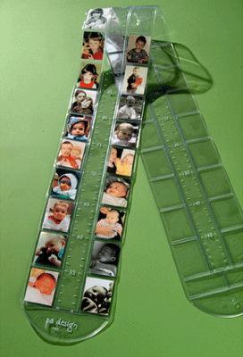 Déco - Pour les enfants - Toise Théo-Phil / Cadre photo double - L 200 cm - Pa Design - Transparent - PVC